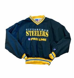 VTG Pittsburgh Steelers Russel Pullover Windbreaker 90s NFL Pro Line Size Medium