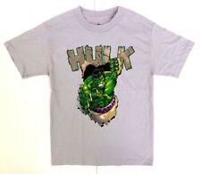 Marvel Comics The Incredible Hulk Men's Adult Grey Superhero T-Shirt Size Small