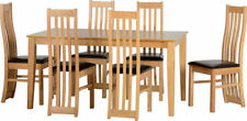 Oak Up to 8 Seats Modern Table & Chair Sets with Extending
