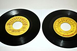 "2 Jerry Lee Lewis Sun Records 7"" 45 Invitation Your Pary & Whole lot of Shakin"""