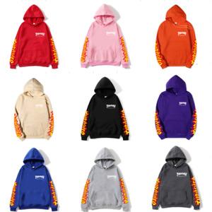 New Hip-Hop Skateboard Sweatshirt Men Women Pullover Plus Fleece Hoodie Sweater