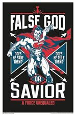 BATMAN VS SUPERMAN - BLACKLIGHT POSTER - 23x35 FLOCKED FALSE GOD SAVIOR 14059