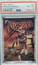 1997 Finest #39 Michael Jordan W/Coating (PSA 8) (Freshly Graded) Bulls UNC