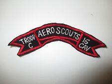 b7507 US Army Vietnam tab Troop C Aero Scouts 16 Cav Calvary IR37B