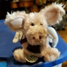 Nwt Boyds Bears Angel Ornament Pig