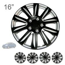 "FOR NISSAN NEW 16"" ABS BLACK RIM LUG STEEL WHEEL HUBCAPS COVER 546"