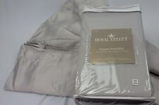 ROYAL VELVET Drapery Panel Pair (2 Panels 50X84) Rod Pocket Lined GRAY MIST