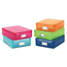 Set of 5 Document Storage Boxes - Asst. Color Coded Home Organization