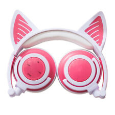 Gamer Cat Ear Bluetooth Wireless Headphones LED Mic Gaming Bass Stereo Headset