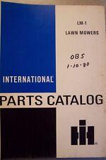 Case International Parts Catalog LM-1 LAWN MOWERS