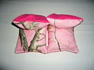 4 Cornhole Bag Set Toss Camo Pink Realtree Camouflage