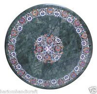 2'x2' Marble Coffee Table Top Inlay Stone Floral Mosaic Rare Marquetry Art H1578