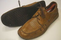 Rieker Antistress walnut brown shoes mens EU 45 extra wide perforated lace up