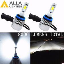 Alla Lighting 8000lm COB White Mini H11 H8 H9 LED Headlight Bulb Conversion Kit