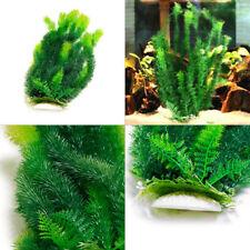 "18.11"" Tall Fish Tank Aquarium Landscape Decor Artificial Plastic Water Plants"