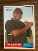2010 Topps Heritage #55  Pablo Sandoval San Francisco Giants NrMt