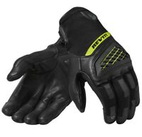 GUANTI MOTO GLOVES REV'IT NEUTRON 3 NERO YELLOW FLUO BLACK OMOLOGATO TG XYL 3XL