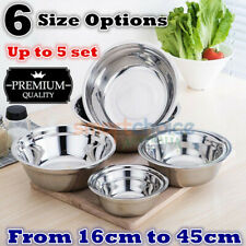 Bulk Sale Durable Stainless Steel Bowl Polished Round Mixing Bowl Salad Bowl