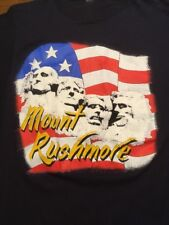 Vintage Mount Rushmore T-Shirt USA America Foam Paper Thin M/L Dark Navy NICE!