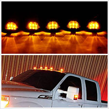 5 Pcs Smoke Amber Lens LED Roof Running Lights Cab Marker Cover for SUV 4X4