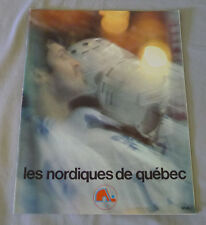 1977-78 WHA Quebec Nordiques vs Cincinnati Stingers Hockey Program