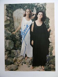"Baccara ""Mayte & Maria"" Autogramme signed 19x26 cm Magazinbild"