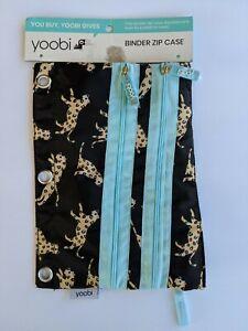 NEW Yoobi Binder Zip Case Leopard Multi-Color Print