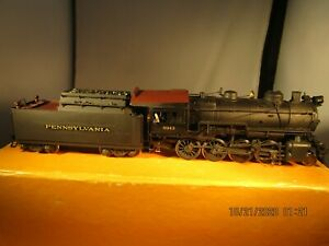 HO scale Brass Sunset Pennsy 2-8-0 H-10 Steam Locomotive and Tender Custom Paint