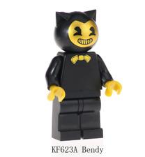 Golden Bendy and the ink Machine Minifigure Horror Halloween DC Comics Lego MOC