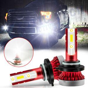 For Ford F150 F250 F350 Super Duty 9145 H10 100W 6000K White LED Fog Light Bulbs