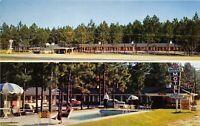 Statesboro Georgia GA 1950s Postcard Hodges Motel & Restaurant