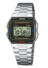 Casio A163wa/1q Mens Classic Digital Wrist Watch Water Resistant Steel Band