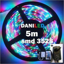 Tira Led RGB 5M 300 led SMD 3528 + 24 KEY + ADAPTADOR 12v 2A PARA INTERIOR
