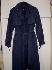 NEW LOOK LADIES BLUE LONG JACKET WITH BELT UK SZ 8 NEW