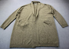 VINCE Womens Beige 100% Cashmere Knit Open Front Cardigan Sweater Coat  L  $525
