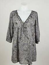 Joie a la Plage Women Xs Top Collie Mayan Tunic Floral Vneck Studded