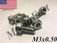 M3x0.5 Socket Head Cap Screw 6mm-35mm Stainless Steel 18-8 A2 ISO: 4762 DIN:912