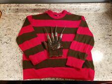 Vintage Freddy Krueger Costume Sweater & Hand 1984
