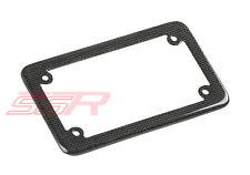 """Motorcycle Carbon Fiber Outer Trim Frame Cover for Most US License Plates(4""""x7"""")"""