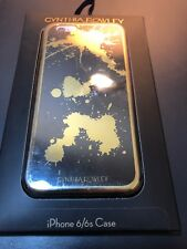 CYNTHIA ROWLEY iPhone 6 / 6s Case BLACK with GOLD Color Splatter