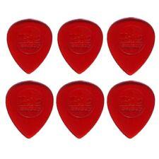 6 x Jim Dunlop Big Stubby 1.00MM Gauge Guitar Picks *NEW* 475R Plectrum Red