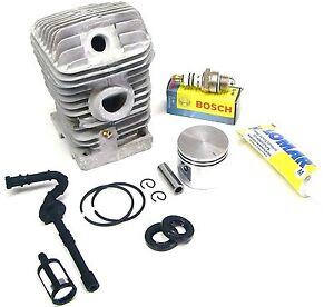 Zylinder 37 mm und Hylomar Dichtung mit Bosch WSR-6F für Stihl 017  MS170 neu