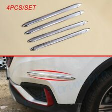 4X Anti-rub Strips Crash Bar For Car Front Rear Bumper Corner Guard Edge Protect