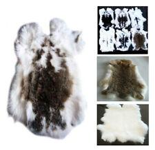 10XNATURAL SPOTTED GENUINE RABBIT SKIN Hide Fur Pelt Craft Skins Bunny BULK LOT