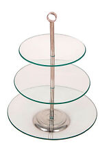 3 Tier Glass Cake Stand Vintage Classic Wedding Round Plate Serving Party Cup