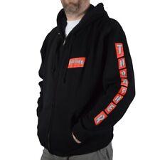 Thrasher Magazine Boxed Logo Zip Up Skateboard Hoodie Black Large