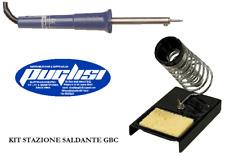 STAZIONE SALDANTE KIT SALDATORE PROFESSIONALE + STAND PORTA SALDATORE GBC 30 W