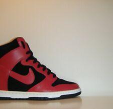 Womens Nike Dunk Sky HI High Black Red Jordan I BRED 7.5  Wedge DB 1 528899-016