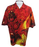 You&You Men Hawaiian Anime shirt pit to pit 26 L vintage 90s samurai camp cobra
