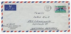 1972 NIGERIA Air Mail Cover LAGOS to SCHWEISWEILER GERMANY SG275